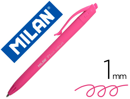 BOLIGRAFO MILAN P1 RETRACTIL 1 MM TOUCH ROSA