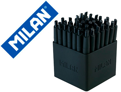 BOLIGRAFO MILAN P1 RETRACTIL 1 MM TOUCH MINI NEGRO EXPOSITOR DE 40 UNIDADES
